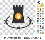 bitcoin barbwire bulwark icon...