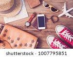 travel accessories costumes....   Shutterstock . vector #1007795851