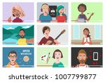 set of different people on... | Shutterstock .eps vector #1007799877