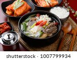 delicious short rib soup in a...   Shutterstock . vector #1007799934