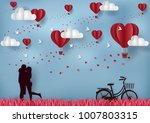 valentine's day concept men and ... | Shutterstock .eps vector #1007803315