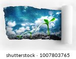 torn paper on the background of ... | Shutterstock . vector #1007803765