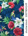 tropical floral pattern... | Shutterstock . vector #1007804149