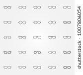 glasses icons set. vector... | Shutterstock .eps vector #1007806054