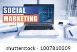 social marketing text concept... | Shutterstock . vector #1007810209