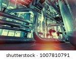 equipment  cables and piping as ... | Shutterstock . vector #1007810791