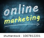 online marketing text concept... | Shutterstock . vector #1007812201