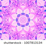 beautiful golden kaleidoscope... | Shutterstock . vector #1007813134