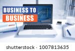 business to business text... | Shutterstock . vector #1007813635