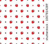 summer fruit background.... | Shutterstock .eps vector #1007814289