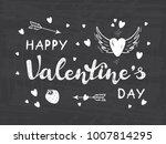 happy valentine's day greeting... | Shutterstock .eps vector #1007814295