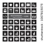 modern restaurant icon set ...   Shutterstock .eps vector #1007815075