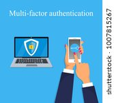 two steps authorization concept.... | Shutterstock .eps vector #1007815267