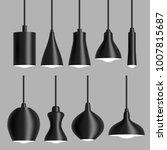 modern black ceiling lamp... | Shutterstock .eps vector #1007815687