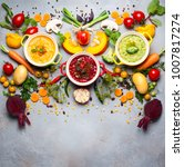 concept of healthy vegetable... | Shutterstock . vector #1007817274