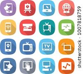 flat vector icon set   touch... | Shutterstock .eps vector #1007818759