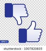 like and dislike icon. thumbs... | Shutterstock .eps vector #1007820835