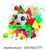 design sports football banner...   Shutterstock .eps vector #1007821777