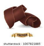 chocolate shavings on white... | Shutterstock .eps vector #1007821885