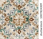 vintage italian tile with... | Shutterstock . vector #1007824309