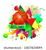 basketball points  lines ... | Shutterstock .eps vector #1007824894