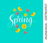 spring card and background.... | Shutterstock .eps vector #1007824927