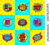 set of pop art comic sale... | Shutterstock .eps vector #1007825395