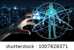 businessman on blurred... | Shutterstock . vector #1007828371