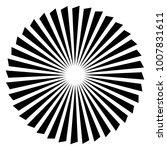 abstract propeller  fan element | Shutterstock .eps vector #1007831611