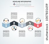 business data visualization.... | Shutterstock .eps vector #1007831659