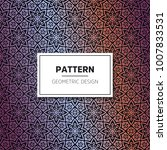 ethnic floral seamless pattern... | Shutterstock .eps vector #1007833531