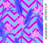 bird of paradise tropical... | Shutterstock .eps vector #1007837119