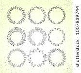 decorative flower wreaths set ...   Shutterstock .eps vector #1007839744