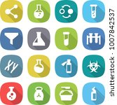 flat vector icon set   molecule ... | Shutterstock .eps vector #1007842537