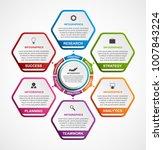 hexagon options infographics... | Shutterstock .eps vector #1007843224