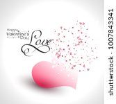 happy valentines day poster... | Shutterstock .eps vector #1007843341