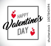 happy valentines day poster... | Shutterstock .eps vector #1007843494