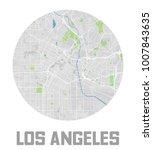 minimalistic los angeles city... | Shutterstock .eps vector #1007843635
