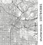 black and white vector city map ... | Shutterstock .eps vector #1007843881
