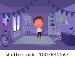 bully boy in his room | Shutterstock .eps vector #1007845567
