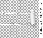 realistic vector torn paper ...   Shutterstock .eps vector #1007846155