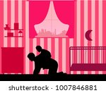 father carrying a child... | Shutterstock .eps vector #1007846881