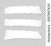 set of realistic vector torn...   Shutterstock .eps vector #1007847619