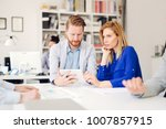 business people working in... | Shutterstock . vector #1007857915