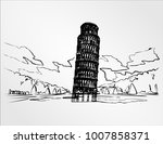 freehand drawing hand draw...   Shutterstock .eps vector #1007858371