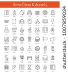 interior design. home decor... | Shutterstock .eps vector #1007859034