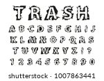 trash typography dirty font.... | Shutterstock .eps vector #1007863441