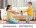 the conflict between a boy and... | Shutterstock . vector #1007865541