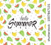 tropical summer objects in... | Shutterstock .eps vector #1007867131