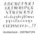 elegant calligraphy letters.... | Shutterstock .eps vector #1007867194